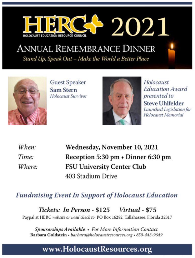 Remembrance Dinner 2021